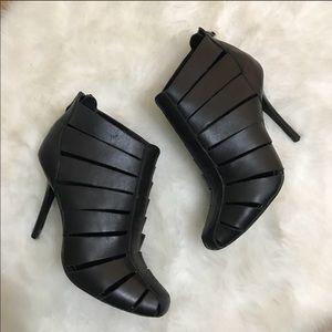 Jay Adoni Viviana black caged booties